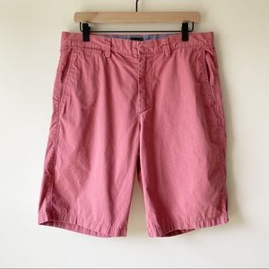 J Crew Club Faded Red Classic Cotton Shorts Sz 33
